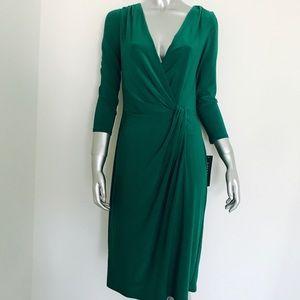 NWT Ralph Lauren Green Jersey Dress $130 Size 6